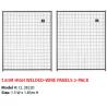 Kit 2 Pannelli Lucky Dog Maglia a Rete 1,5 x 1,83