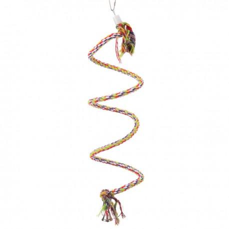 Corda Spirale Colorata Small per Parrocchietto