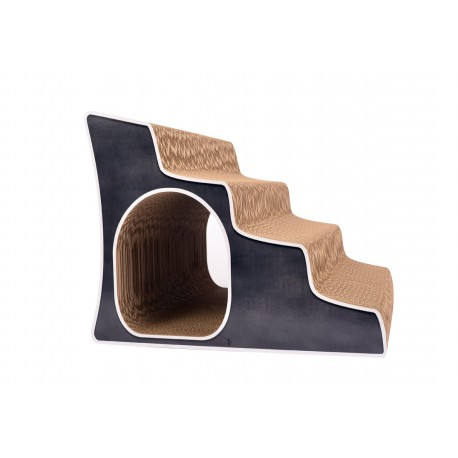 Lesalier Oval Cat-On Stairs Tiragraffi in Cartone Ondulato Medium