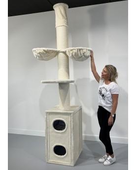 Tiragraffi Cat Tower Box Crema