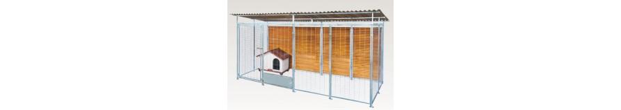 Box recinto in acciaio zincato da esterno per cani for Cancelletti per cani da esterno