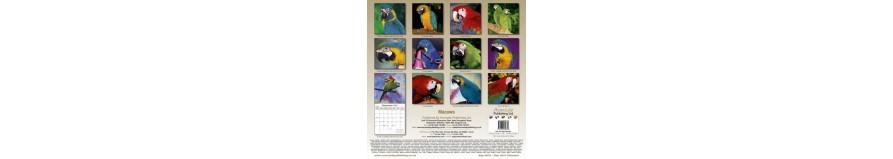 I calendari con i pappagalli