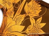 003C - Fiore Asia in arancione su marrone