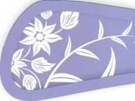 004C - Fiore Asia bianco su lilla