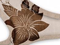 016C - Fiore Asia Marrone su beige-griigo