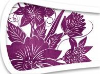 016D - Fiore Asia in lilla su bianco