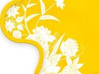 016F - Fiore Asia inbianco su giallo