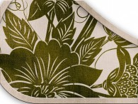 017  - Fiore Asia Verde Oliva su beige-grigio