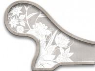 019  - Fiore Asia Bianco su Beige-Grigio
